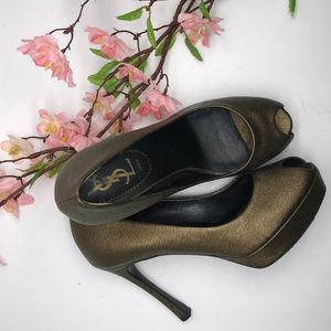 Yves Saint Laurent Palais YSL Peep Toe Pump Heels